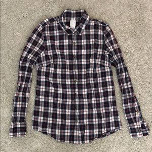 J Crew the Perfect Shirt Plaid Holiday